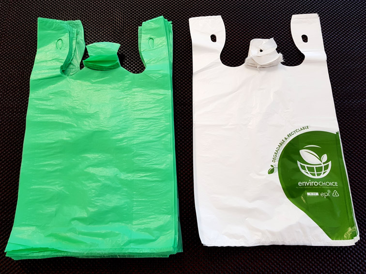 (a) HDPE Plain and OXO-degradable Check-out bags