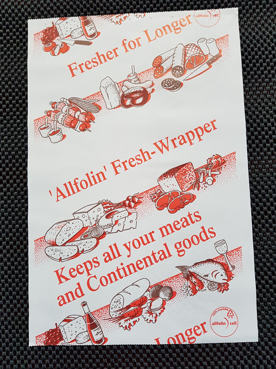 (d) Special Allfolin Deli-sheets for processed meat and cheese. Made in Germany